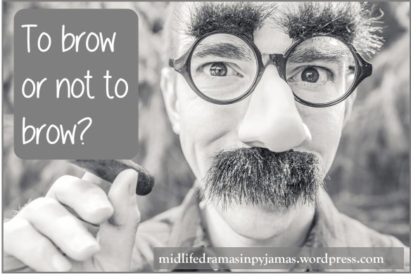 A funny blog post about eyebrows, from Midlife Dramas in Pyjamas