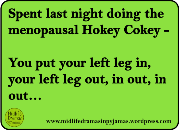A funny MEME about the menopause from Midlife Dramas in Pyjamas