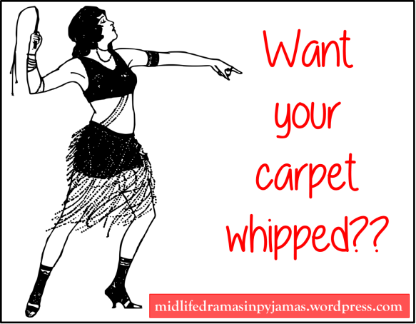 A funny blog post about carpet whipping, from Midlife Dramas in Pyjamas.