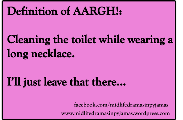 A funny MEME about the true meaning of the word AARGH, rom humour blogger Midlife Dramas in Pyjamas