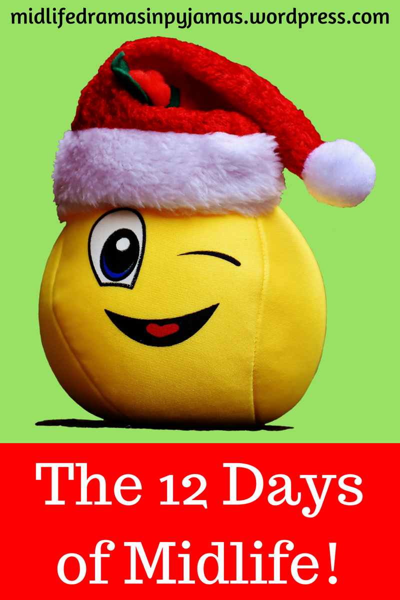 A funny version of the 12 Days of Christmas, by humour blogger Midlife Dramas in Pyjamas
