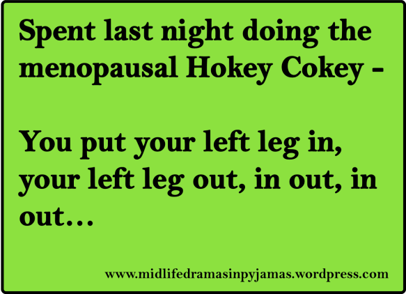 A funny MEME about the menopause from humour blogger, Midlife Dramas in Pyjamas