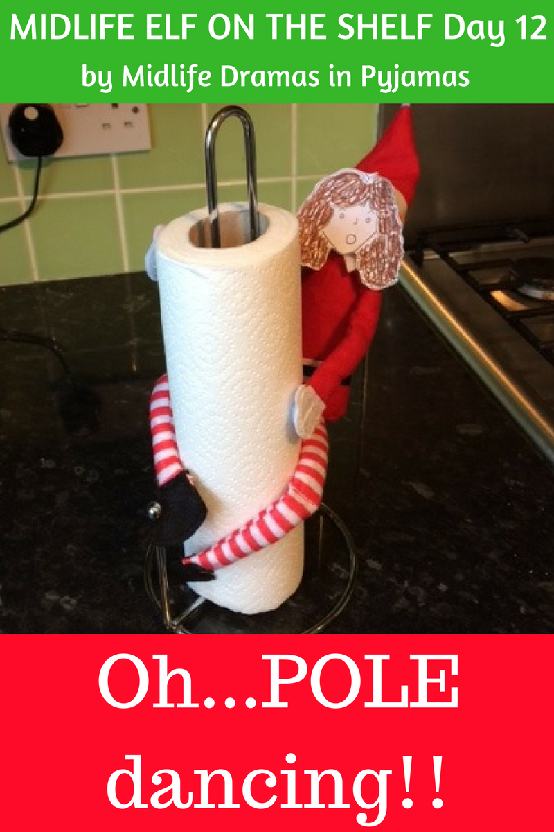A funny midlife elf meme, from humour blogger Midlife Dramas in Pyjamas