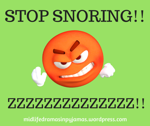 A funny blog post about a husband snoring, from humour blogger Midlife Dramas in Pyjamas