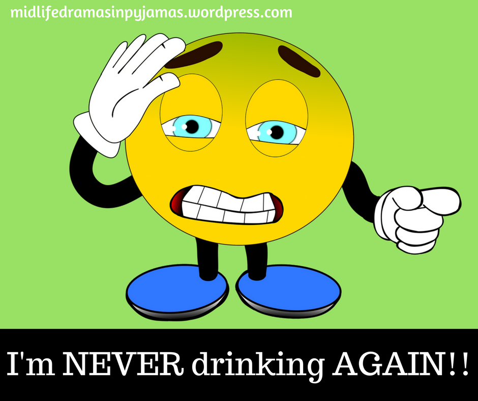 A funny blog post about the midlife hangover, from humour blogger Midlife Dramas in Pyjamas