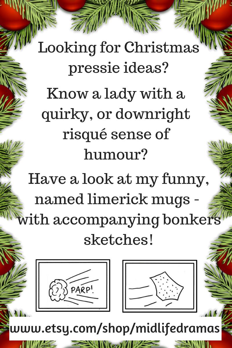 Funny limerick mugs from Midlife Dramas in Pyjamas